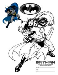 Batman Printable Coloring Pages