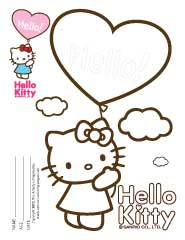 Hello Kitty Colouring Sheets