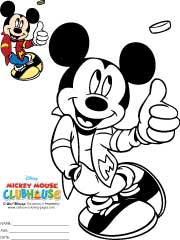 Mickey Mouse Coloring Pictures to Print