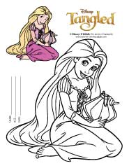 Rapunzel Coloring Pages to Print