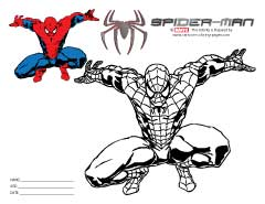 Spiderman Pictures to Color